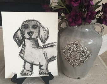 Original One-of-a-kind Charcoal Drawing