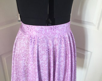 Rapunzel full circle mini skirt disneybound run disney stretchy breathable fabric ready to ship run events