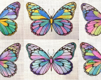 Butterfly pattern. Colour your own on fabric.