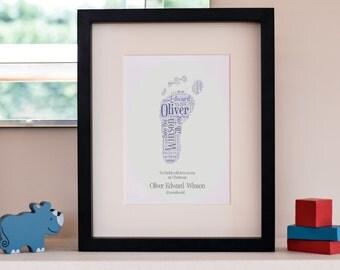 Baby footprint word art
