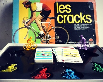 """The CRACKS"" - themed cycling - French Game Vintage board game"