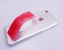 SUSHI PHONE CASE,Tuna sushi phone case,Real size,Sushi,Iphone case,Galaxyphone case,Unique phone case