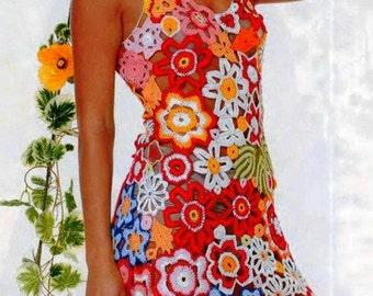 Bright Lace Dress Crochet