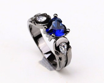 Police Officer Ring Thin Blue Line Ring Police Officer Jewelry Law Enforcement Jewelry Blue Lives Matter Police Officer Ring Police Wife