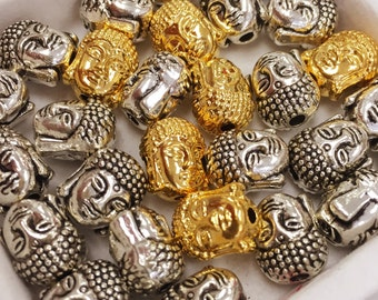 10pcs Buddha Bead,Buddha Charm,Antique Silver Buddha Bead,Antique Silver Buddha Charm,Gold Buddha Bead,Gold Buddha Charm,Buddha Beads,Buddha
