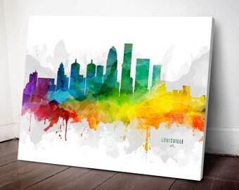 Louisville Skyline Canvas, Louisville Print, Louisville Art, Louisville Gift Idea, Louisville Cityscape, MMR-USKYLO05C