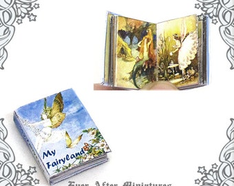 Fairy Dollhouse Miniature Book – 12th Scale My Fairyland OPENABLE Fairy Miniature Book / Fairies Book for Dollhouse - Printable DOWNLOAD