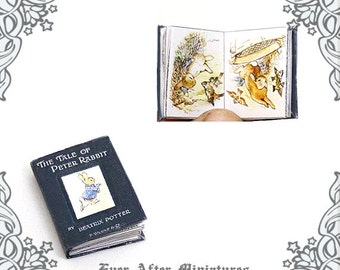 The Tale of Peter Rabbit Dollhouse Miniature Book – 12th Scale Openable BEATRIX POTTER Miniature Book - Peter Rabbit Tale Printable DOWNLOAD