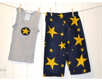 Starry Starry Night ~ Flannelette PJ Pants & Singlet Set