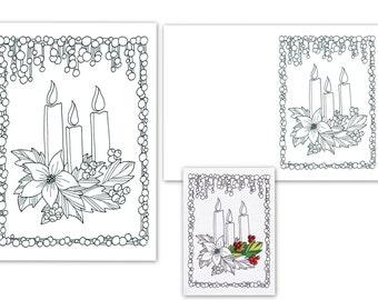 Christmas coloring page, printable download