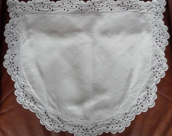 Cushion cover vintage for chair broderie anglaise