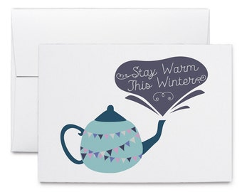 Stay Warm This Winter - Greeting Card