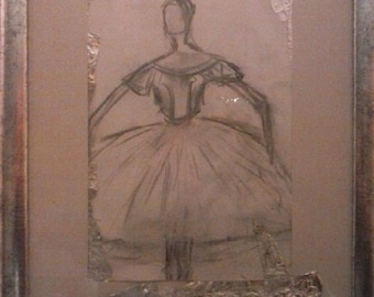 Cinderella, ballet dancer, drawing