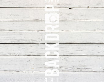Large Photography Backdrop - White Wash Wood - 5'x5', 5'x6', 5'x7', 5'x10'