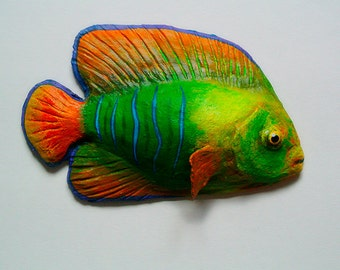 Wall hanging. Clarion angelfish