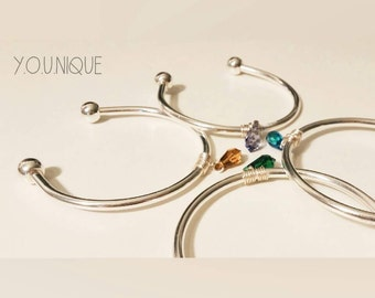 22_Four seasons bangles ( Bangle, Bracelet, Silver, Friendship, Simple, Lovely, Trendy, Jewelry, Bracelet for Women)