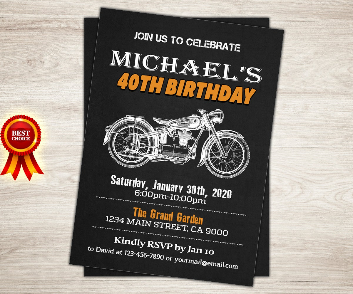 Harley Davidson Party Decorations Motorcycle Birthday Etsy