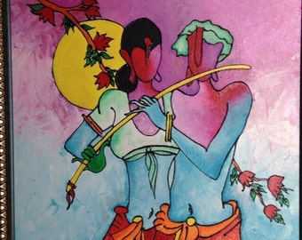 Eternal love :Radha krishna painting