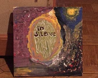 In Silence. Acrylic on Cardboard.