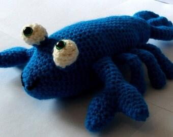 Crochet Lobster, Amigurumi Lobster, Teal Lobster, Handmade, Soft Toy