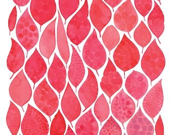 Eucalyptus Leaves Fine Art print Giclee Print Watercolour print