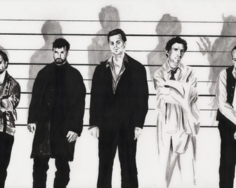 usual suspects painting movie  print art artwork