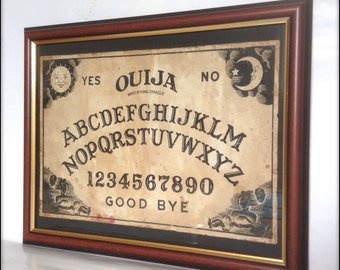 Ouija Board reproduction print in frame LARGE