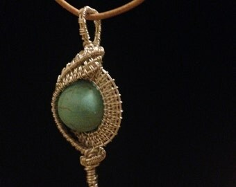 Howlite wire wrap necklace