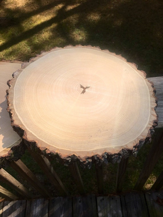 Set of wood slices wedding centerpieces by