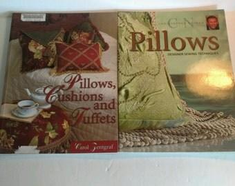 2 Designer Pillows Craft Instruction Books 2004 2007