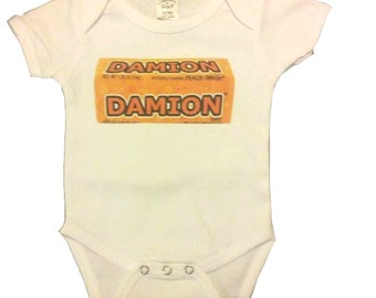 Custom Now & Later Candy Onesie Baby Clothes
