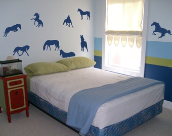 Horses 01 - wall label, wall decal, wall sticker