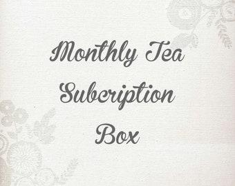 Monthly Tea Subscription Box, Loose Leaf Tea, Gift for Tea Drinker, Gift for Mom, Gift for Her, Organic Herbal Tea, Gift for Him, Vegan