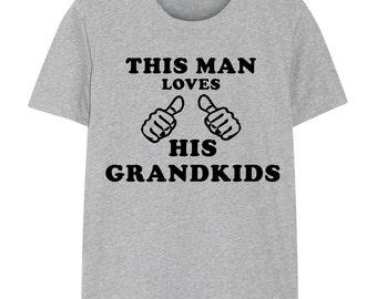 Grandfather Gift grandad shirt - This Man Loves His Grandkids T-Shirt - 217