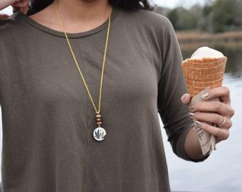 Vintage Vibez Gold Chain Bead Necklace