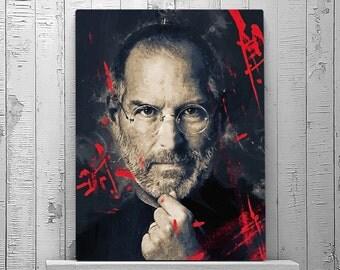 Steve Jobs Poster, Steve Jobs Print, Steve Jobs Art, Steve Job Portrait, Steve Jobs Decor, Leader, Celebrity Portrait, Wall Art Print