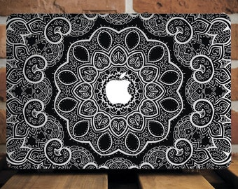 MacBook Case MacBook Air Case Macbook Air 13 Case Macbook Pro Case MacBook Pro Retina Case MacBook 12 Case Case For MacBook Mandala Gray
