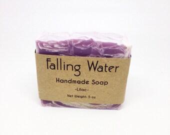 Lilac Falling Water Soap Company, Handmade Soap, Homemade Soap, Cold Proccess Soap, CP Soap, Vegan Soap, All Natural Soap