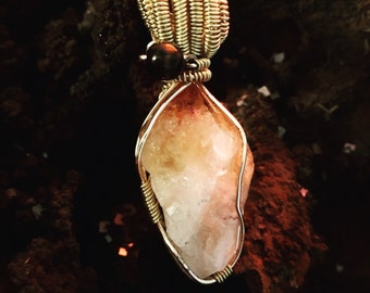 Citrine with tigers eye