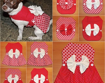 Red & White Polka Dot 12-in-1 Pet Outfit