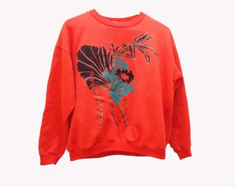 SALE 90s Applique Print Sweatshirt