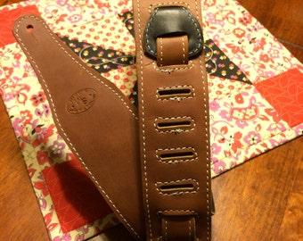 Leather Guitar Strap - Handmade - Amish - Adjustable