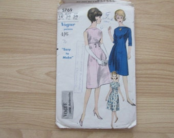 Vogue dress pattern size 16