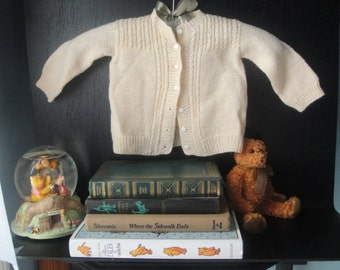 Vintage hand knitted child's sweater