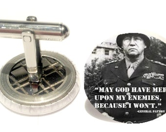general patton quotes  men's cuff links