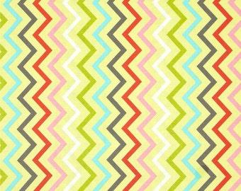 Spa - Mini Chic Chevron - end of bolt 1/3 YARD - Michael Miller - Cotton Fabric - Quilting Fabric