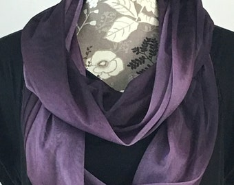 Purple Infinity Scarf, Lightweight Scarf, Gift for her, Gift for Wife, Scarf, Valentine Gift, Infinity Scarves, Purple Scarf, Valentine's