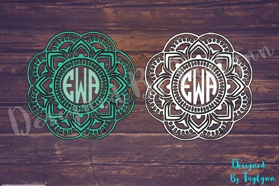 mandala decal yeti decal mandala monogram by designedbytaylynn