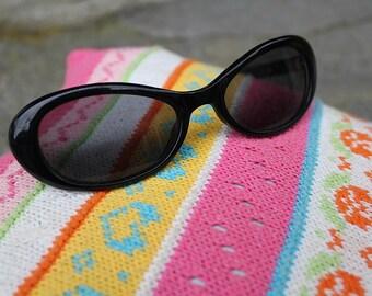 sunglass, black, small, 'GRACE-Style', 60's/ 70's