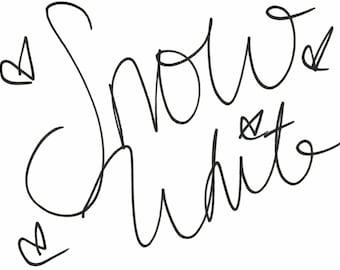 Snow White Embroidery Signature